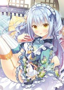 Rating: Questionable Score: 31 Tags: garter_belt maid nopan skirt_lift stockings takano_yuki thighhighs wa_maid User: Twinsenzw