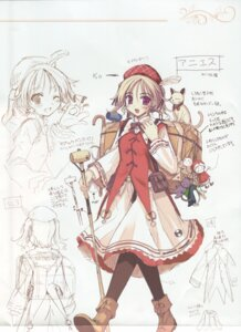 Rating: Safe Score: 5 Tags: agnes_boulange character_design ko~cha shukufuku_no_campanella sketch User: admin2