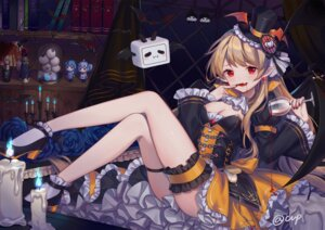 Rating: Questionable Score: 57 Tags: bili_bili_douga bili_girl_22 bili_girl_33 blood chibi cleavage cup_(13636466299) dress garter halloween heels pointy_ears see_through skirt_lift wings User: sym455