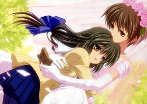 Rating: Safe Score: 11 Tags: clannad dress ibuki_fuuko ibuki_kouko ikeda_kazumi seifuku wedding_dress User: admin2
