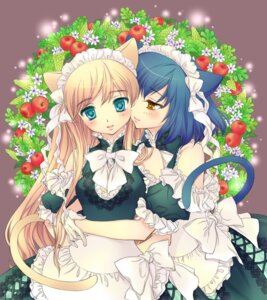 Rating: Safe Score: 25 Tags: animal_ears dress lugosi_ela nekomimi tail yuri User: inumimi.7