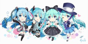 Rating: Safe Score: 40 Tags: chibi dress hatsune_miku headphones kuroi_asahi thighhighs vocaloid User: RyuZU