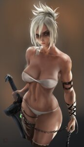 Rating: Safe Score: 53 Tags: bikini cleavage league_of_legends riven_(league_of_legends) sakimichan swimsuits sword thighhighs torn_clothes User: JCharlieAN