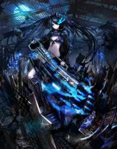 Rating: Safe Score: 32 Tags: bikini_top black_rock_shooter black_rock_shooter_(character) jname vocaloid weapon User: zero|fade