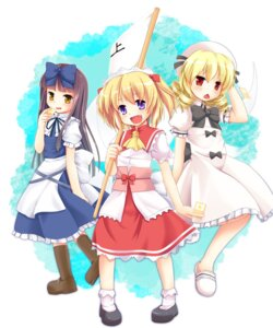 Rating: Safe Score: 13 Tags: luna_child niiya star_sapphire sunny_milk touhou User: fairyren