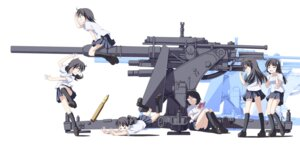 Rating: Safe Score: 20 Tags: gun megane seifuku tri User: hobbito