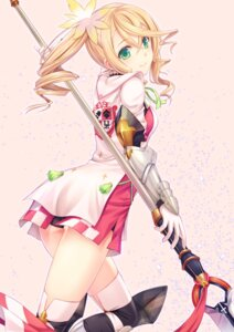 Rating: Safe Score: 144 Tags: alisha armor ass dress n.g. pantsu tales_of_zestiria thighhighs weapon User: Mr_GT