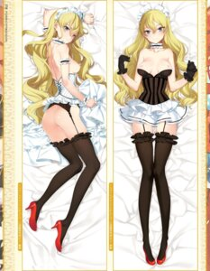 Rating: Questionable Score: 85 Tags: ass bottomless breasts corset dakimakura eiyuu_senki garter_belt heels maid nipples no_bra nopan oyari_ashito stockings tenco thighhighs User: akagiss