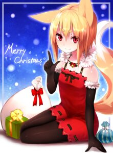 Rating: Safe Score: 43 Tags: animal_ears christmas dress kitsune pantyhose sukemyon tail User: KazukiNanako