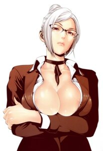 Rating: Questionable Score: 35 Tags: areola breast_hold hiramoto_akira megane no_bra open_shirt prison_school seifuku shiraki_meiko User: Radioactive