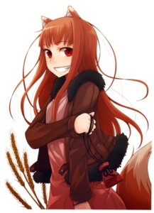 Rating: Safe Score: 39 Tags: animal_ears ayakura_juu holo kitsune spice_and_wolf tail User: Radioactive