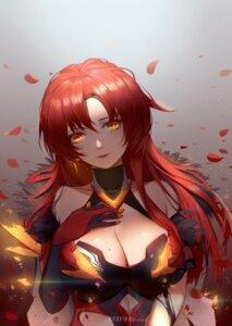 Rating: Safe Score: 31 Tags: benghuai_xueyuan breast_hold cleavage honkai_impact koi_han murata_himeko torn_clothes User: BattlequeenYume