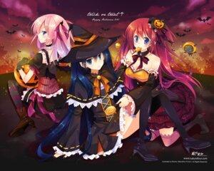 Rating: Safe Score: 28 Tags: halloween mocha_(naturefour) thighhighs wallpaper witch User: fairyren