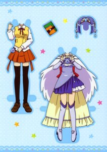 Rating: Safe Score: 2 Tags: character_design dress ibe_yukiko jewelpet jewelpet_twinkle sara_(jewelpet_twinkle) seifuku thighhighs wings User: midzki
