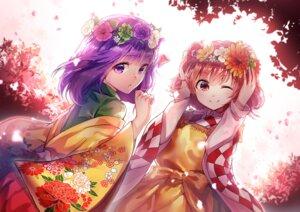 Rating: Safe Score: 39 Tags: hieda_no_akyuu kimono motoori_kosuzu touhou uu_uu_zan User: Mr_GT