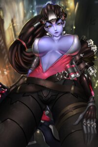 Rating: Questionable Score: 43 Tags: cleavage erect_nipples gun no_bra open_shirt overwatch widowmaker User: as3354332