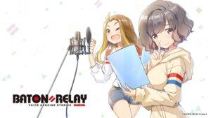 Rating: Safe Score: 7 Tags: baton=relay jinguu_ririka omigawa_kaoru wakaki_tamiki wallpaper User: saemonnokami