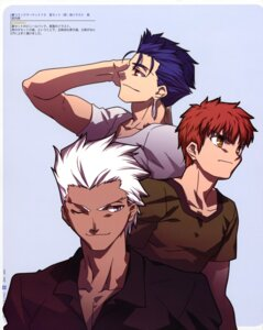 Rating: Safe Score: 3 Tags: archer emiya_shirou fate/stay_night lancer male takeuchi_takashi type-moon User: Lua