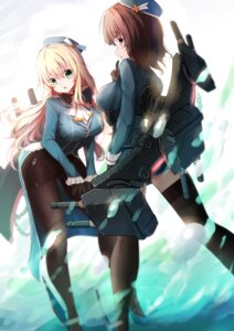 Rating: Safe Score: 29 Tags: atago_(kancolle) heels kantai_collection pantyhose takao_(kancolle) thighhighs uniform weapon zheyi_parker User: mash