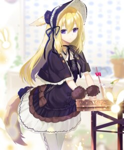 Rating: Safe Score: 25 Tags: animal_ears gothic_lolita lolita_fashion nyori pantyhose tail User: sym455
