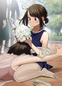 Rating: Safe Score: 30 Tags: dress ganbare_douki-chan heels pantyhose see_through yom User: Spidey