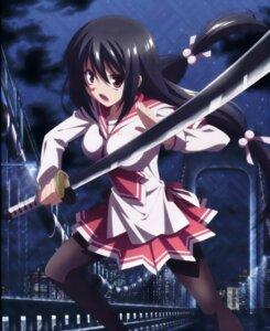 Rating: Safe Score: 36 Tags: disc_cover hidan_no_aria hidan_no_aria_aa ooshima_miwa pantyhose sasaki_shino seifuku sword User: fireattack