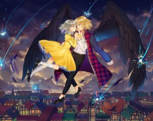 Rating: Safe Score: 27 Tags: dangmill dress heels howl howl_no_ugoku_shiro sophie_hatter wings User: Mr_GT