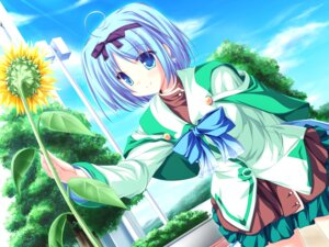 Rating: Safe Score: 29 Tags: game_cg kujou_yuuka magus_tale seifuku tenmaso whirlpool User: yuno