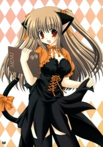 Rating: Safe Score: 24 Tags: animal_ears nekomimi nekoneko tail thighhighs waitress User: blooregardo