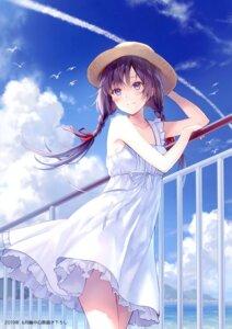 Rating: Safe Score: 75 Tags: dress fukahire_sanba ruinon skirt_lift sorai_yuuka summer_dress tagme User: kiyoe