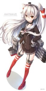 Rating: Safe Score: 63 Tags: amatsukaze_(kancolle) heels kantai_collection nikkunemu rensouhou-kun see_through stockings thighhighs User: tbchyu001