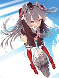 Rating: Safe Score: 52 Tags: amatsukaze_(kancolle) blew_and_white heels kantai_collection rensouhou-kun stockings thighhighs User: Mr_GT