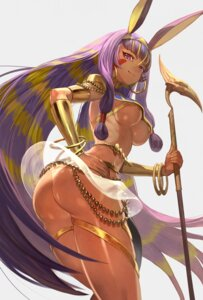 Rating: Questionable Score: 78 Tags: animal_ears ass bunny_ears fate/grand_order lack nitocris_(fate/grand_order) no_bra pantsu see_through underboob weapon User: Mr_GT
