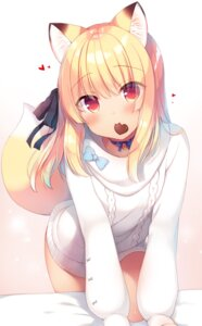 Rating: Safe Score: 44 Tags: animal_ears boku_no_risou_no_isekai_seikatsu chise_(ichiri) ichiri kitsune sweater tail User: john.doe