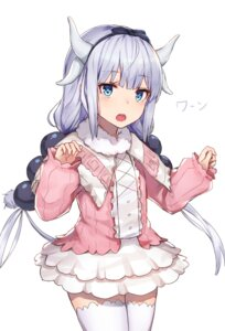 Rating: Safe Score: 35 Tags: black_cola horns kanna_kamui kobayashi-san_chi_no_maid_dragon tail thighhighs User: Spidey