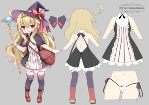 Rating: Questionable Score: 12 Tags: bandaid character_design little_witch_nobeta no_bra nobeta pantsu string_panties tagme thighhighs weapon witch User: ryoga828