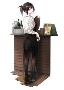 Rating: Safe Score: 39 Tags: heterochromia pantyhose vice_(kuronekohadokoheiku) waitress User: NotRadioactiveHonest