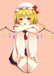 Rating: Safe Score: 36 Tags: feet flan_(seeyouflan) flandre_scarlet seifuku touhou wings User: Nepcoheart