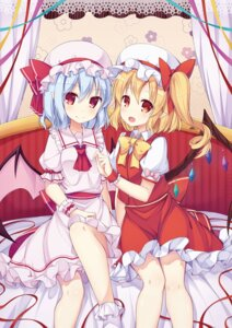 Rating: Safe Score: 27 Tags: amemiya_ruki flandre_scarlet pointy_ears remilia_scarlet touhou wings User: Mr_GT