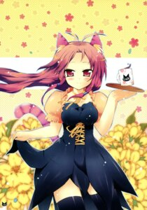 Rating: Safe Score: 26 Tags: animal_ears nekomimi suihei_kiki tail thighhighs waitress User: blooregardo