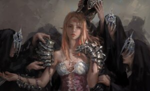 Rating: Safe Score: 35 Tags: armor cleavage ghostblade no_bra pointy_ears tattoo wlop User: Darkthought75