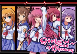 Rating: Safe Score: 12 Tags: angel_beats! hisako iwasawa rayhwang seifuku sekine yui_(angel_beats!) User: HTTmioyui