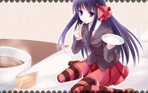 Rating: Safe Score: 43 Tags: cafe_sourire cuffs mutou_kurihito seifuku thighhighs wallpaper yukishita_miyuri User: Kalafina