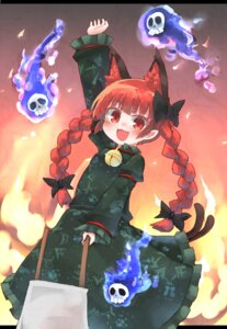 Rating: Safe Score: 17 Tags: animal_ears dress kaenbyou_rin kibisake pointy_ears tail touhou User: Mr_GT