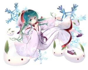 Rating: Safe Score: 54 Tags: hatsune_miku kimono rozer vocaloid yuki_miku User: Mr_GT
