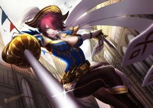 Rating: Questionable Score: 41 Tags: armor citemer cleavage fiora league_of_legends sword weapon User: blooregardo