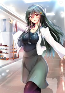 Rating: Safe Score: 29 Tags: cleavage haruna_(kancolle) kantai_collection pantyhose tsukui_kachou User: mash