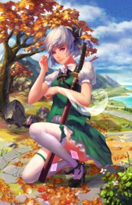 Rating: Safe Score: 21 Tags: heels konpaku_youmu polskash sword thighhighs touhou User: Mr_GT