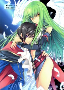 Rating: Safe Score: 41 Tags: c.c. code_geass creayus lelouch_lamperouge rangetsu wings User: Aurelia