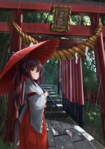 Rating: Safe Score: 14 Tags: akabane_hibame miko umbrella User: sym455